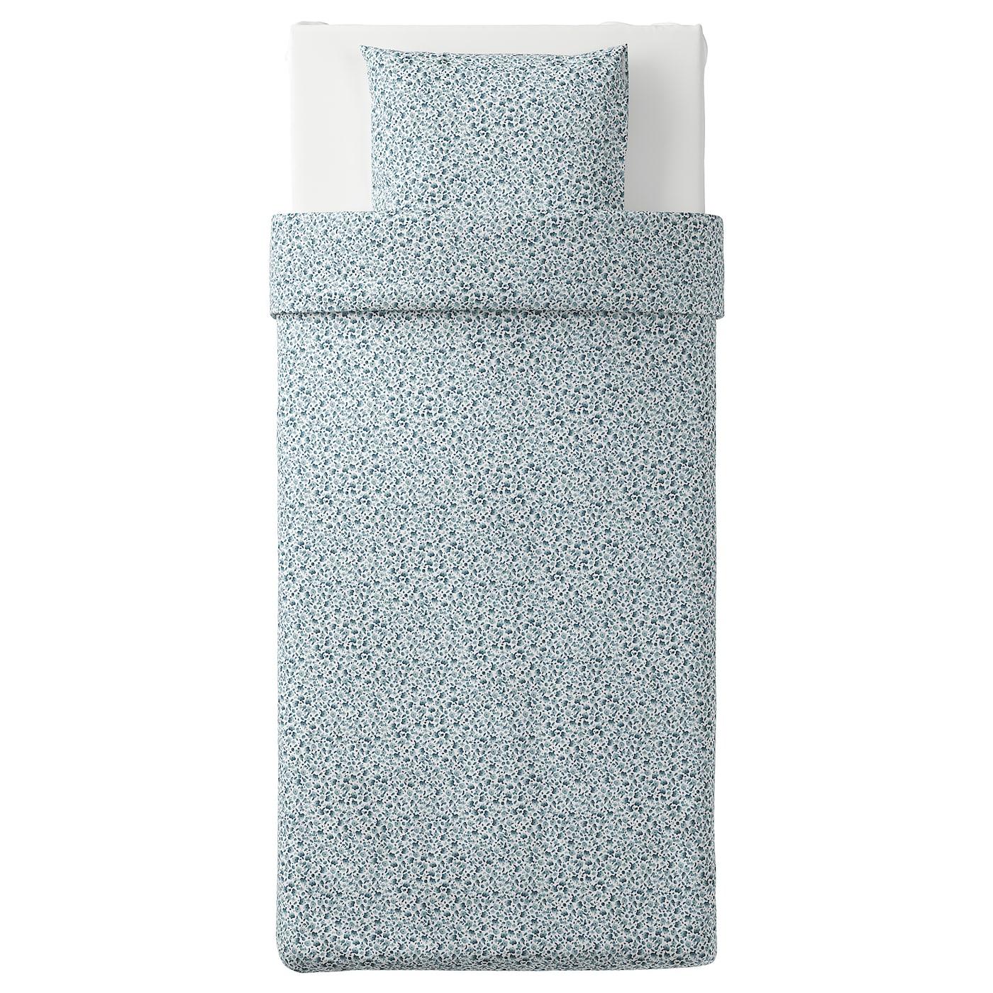 vattenmynta housse de couette et taie blanc bleu 150 x 200 50 x 60 cm ikea. Black Bedroom Furniture Sets. Home Design Ideas