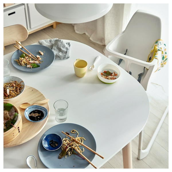 VEDBO / VEDBO Table et 6 chaises, blanc/bouleau, 240x105 cm