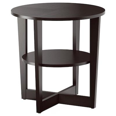 VEJMON Table d'appoint, brun noir, 60 cm