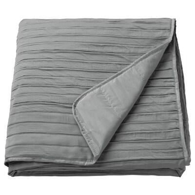 VEKETÅG Couvre-lit, gris, 160x250 cm