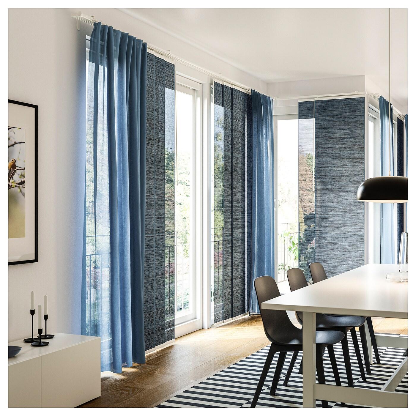 vidga rail pour rideau triple blanc 140 cm ikea. Black Bedroom Furniture Sets. Home Design Ideas