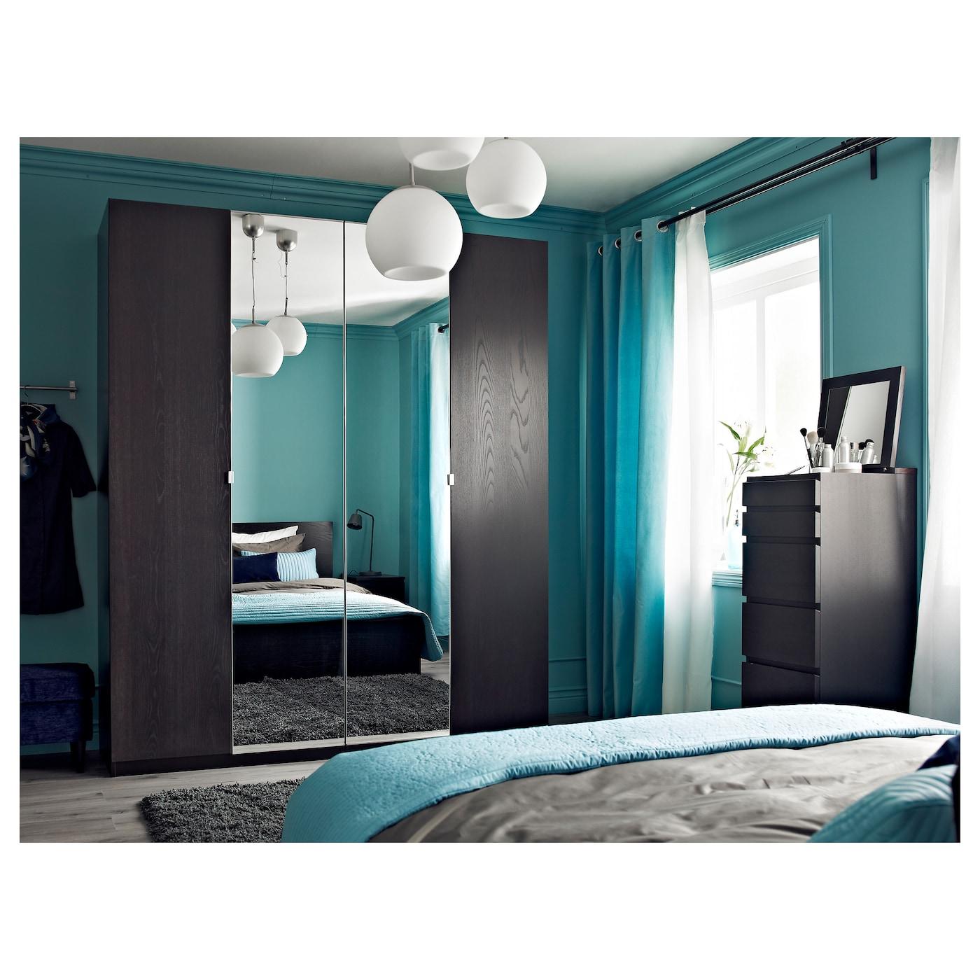 Vikedal porte avec charni res miroir 50x229 cm ikea for Ikea porte miroir
