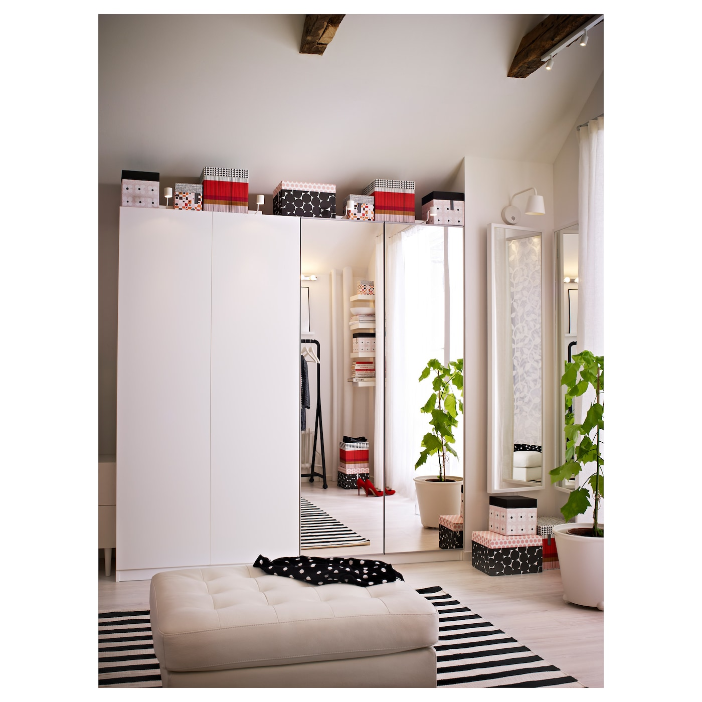 vikedal porte avec charni res miroir 50x229 cm ikea. Black Bedroom Furniture Sets. Home Design Ideas