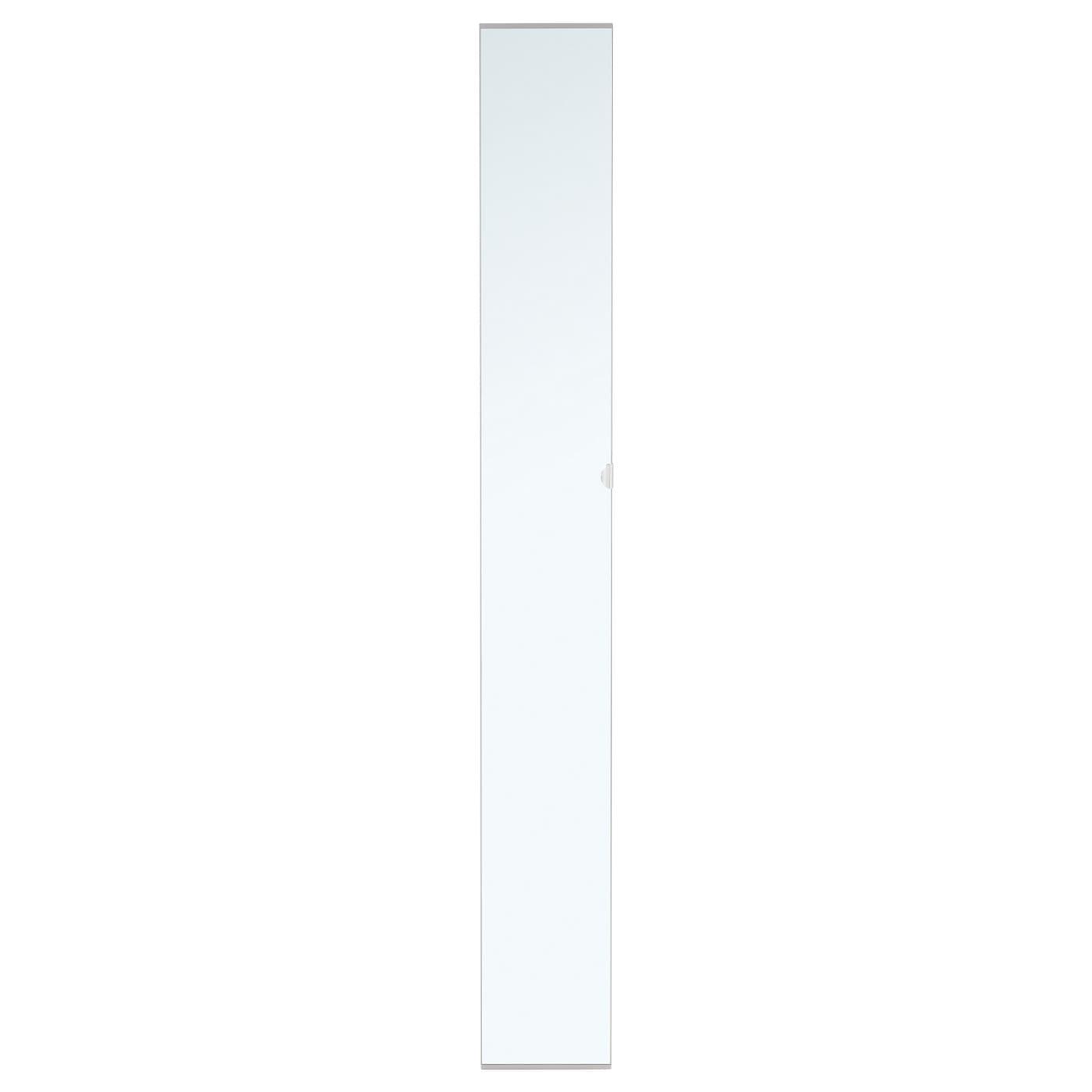 Vikedal porte avec charni res miroir 25x195 cm ikea for Ikea porte miroir