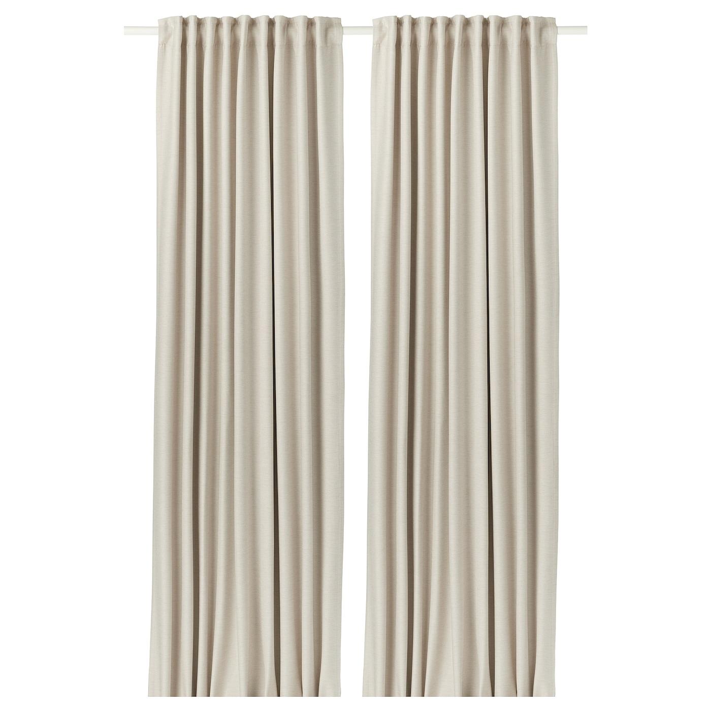 VILBORG Rideaux, 1 paire Beige 145 x 300 cm - IKEA