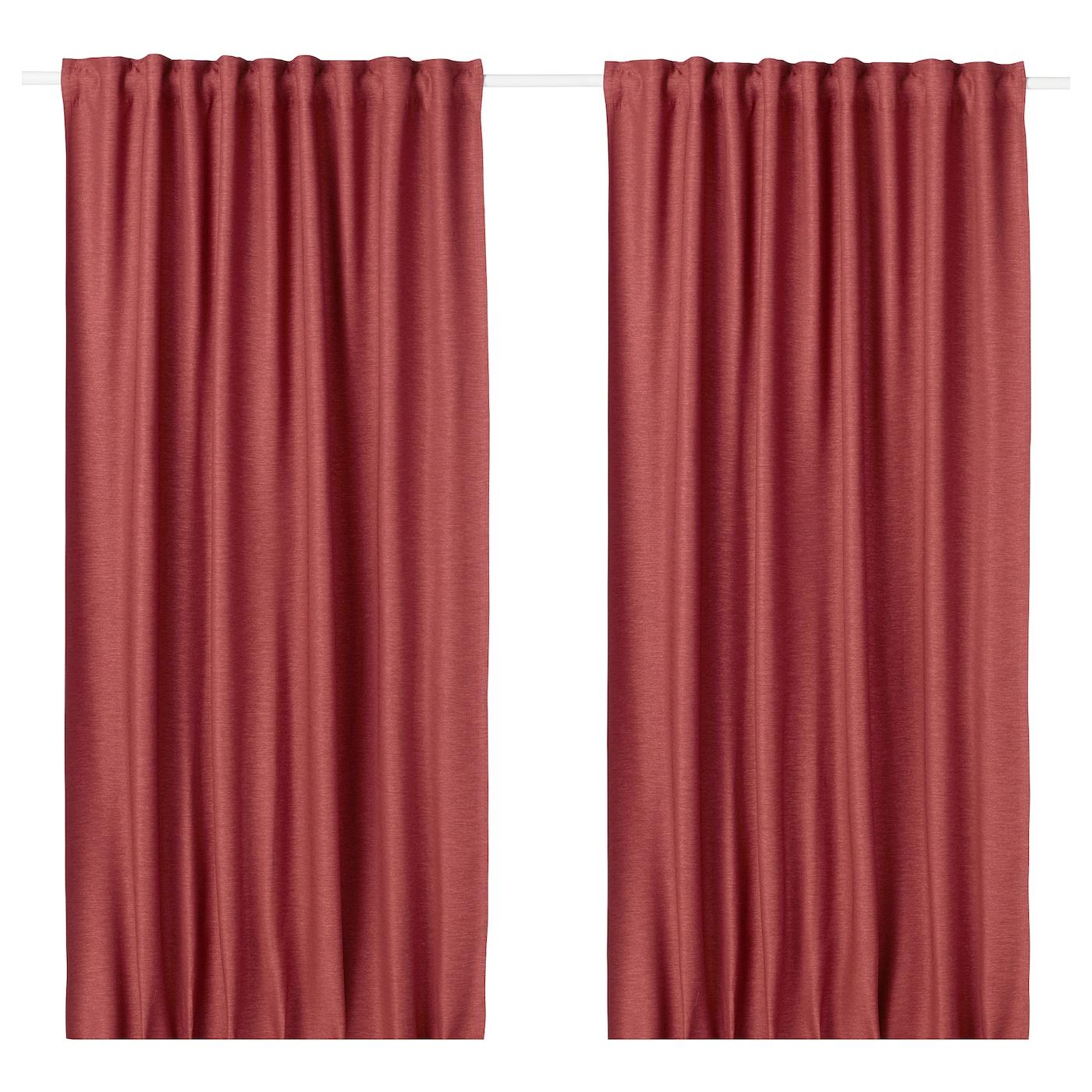 VILBORG Rideaux, 1 paire Rouge 145 x 300 cm - IKEA