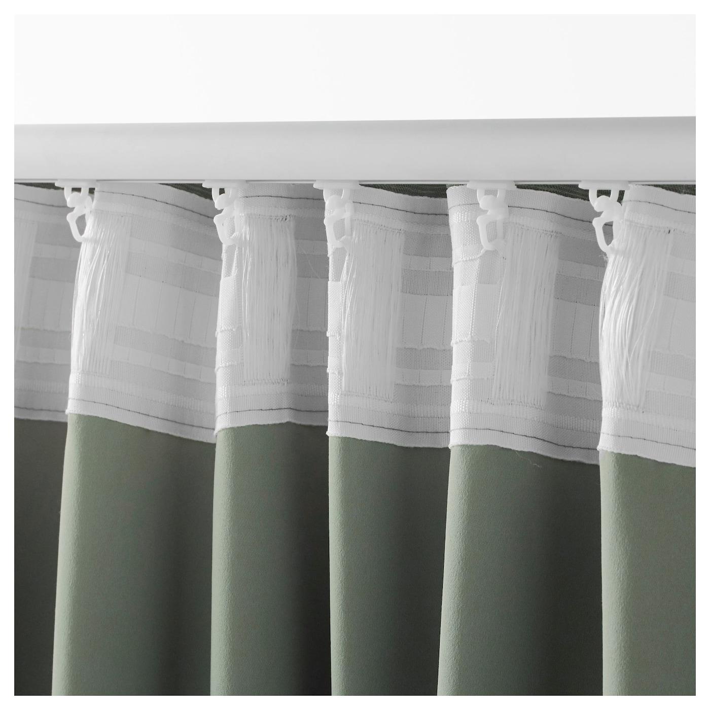 vilborg rideaux 1 paire vert 145x300 cm ikea. Black Bedroom Furniture Sets. Home Design Ideas