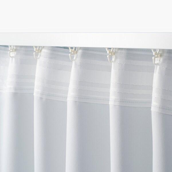 VILBORG Rideaux, 2 pièces, blanc/turquoise, 145x300 cm
