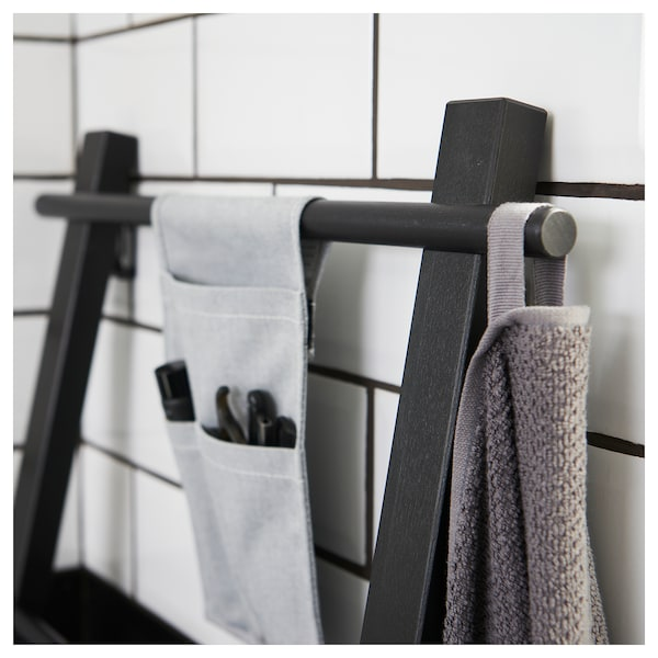VILTO Portant serviettes, noir