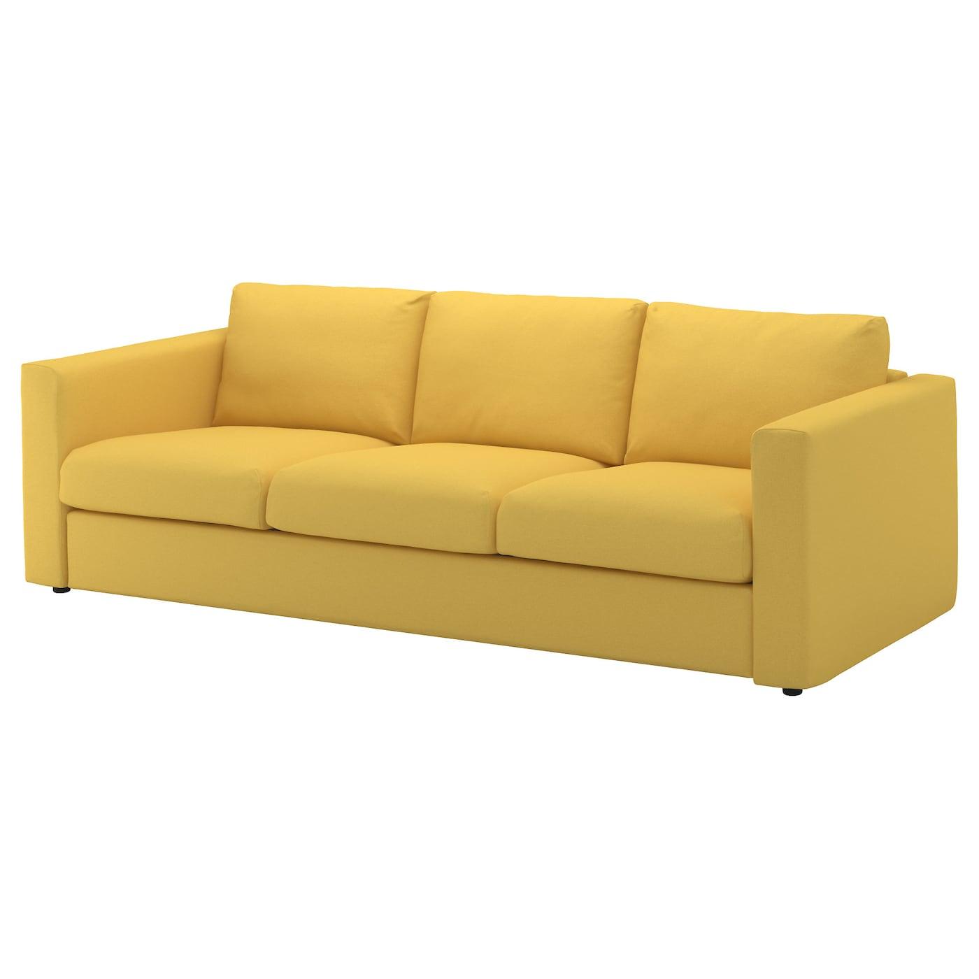 VIMLE Canapé 3 places Orrsta jaune doré IKEA