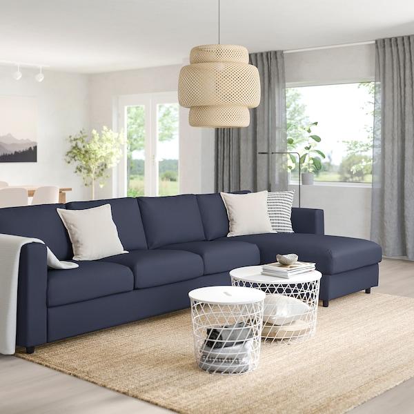 VIMLE Canapé 4 places, avec méridienne/Orrsta bleu noir
