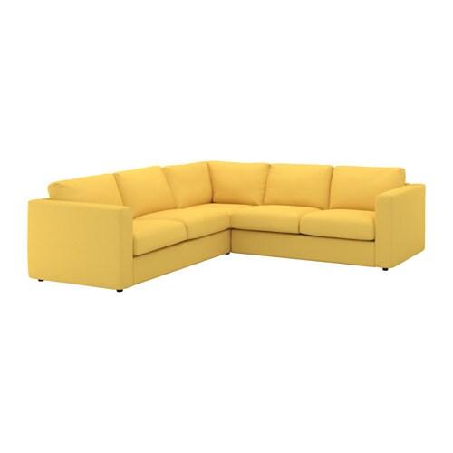 Vimle canap d 39 angle 4 places orrsta jaune dor ikea - Canape angle tissu ikea ...
