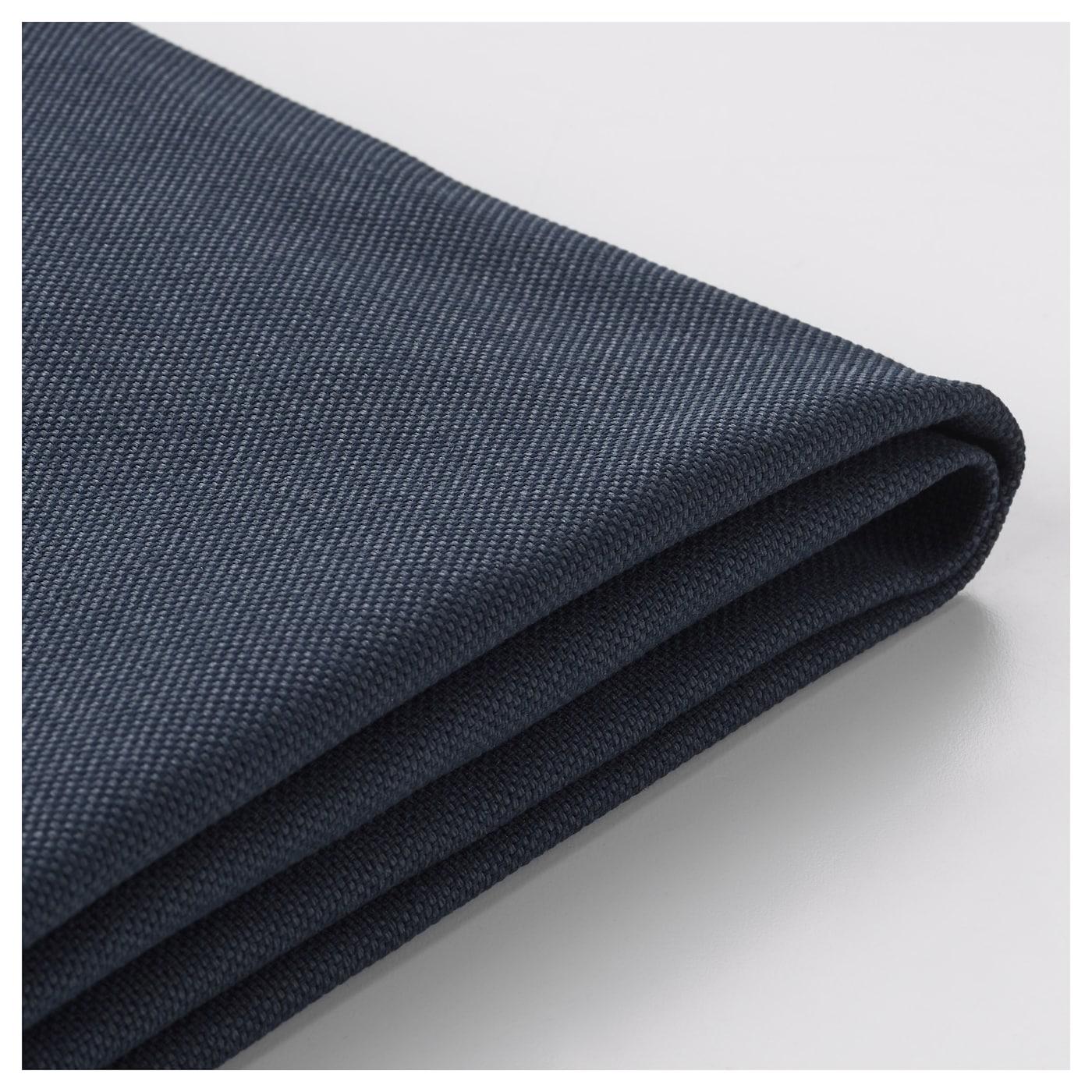 Vimle housse canap 2 pl orrsta bleu noir ikea for Housse aile housse ikea