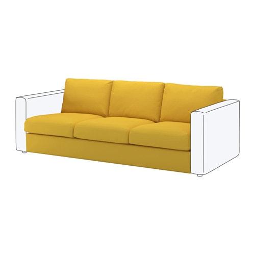 Vimle module 3 places orrsta jaune dor ikea for Canape jaune ikea