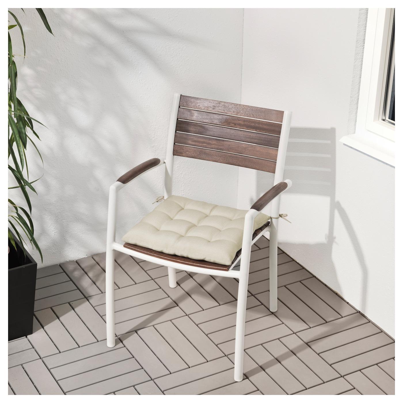 vindals chaise avec accoudoirs ext rieur blanc teint brun ikea. Black Bedroom Furniture Sets. Home Design Ideas