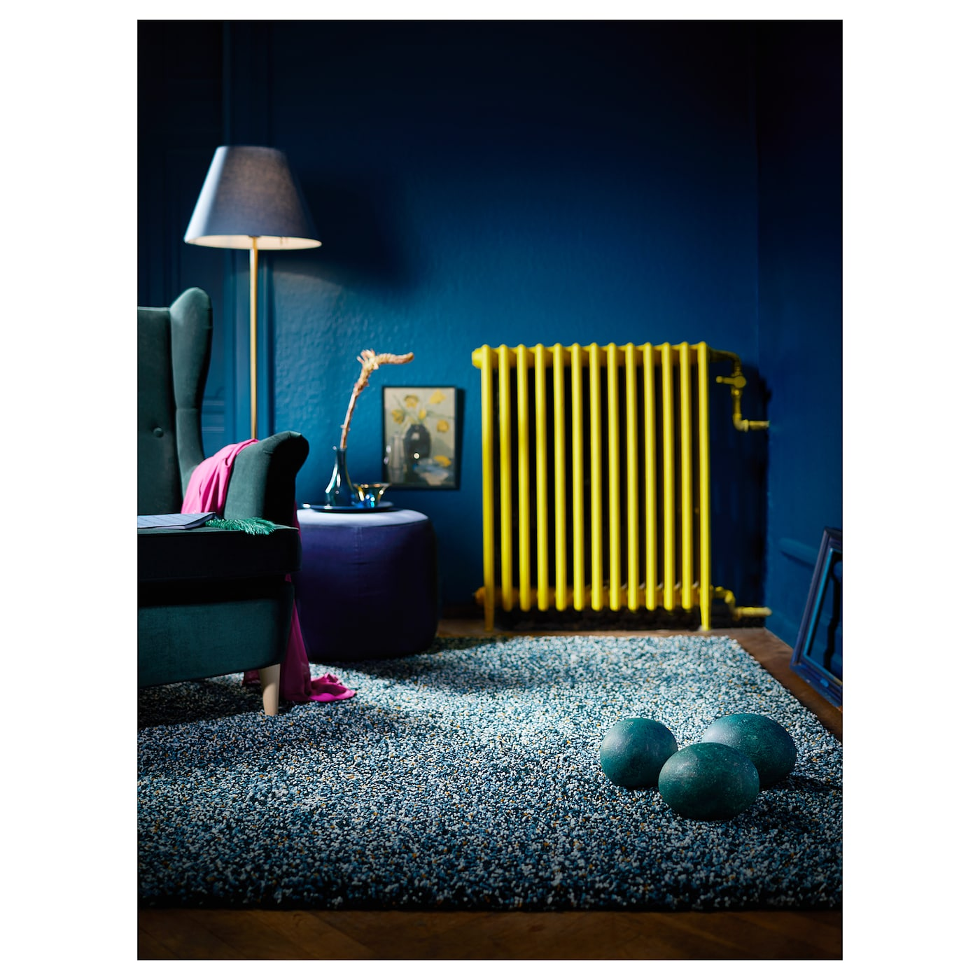 vindum tapis poils hauts bleu vert 170x230 cm ikea. Black Bedroom Furniture Sets. Home Design Ideas