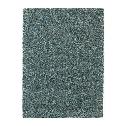 Vindum tapis poils hauts bleu vert 200x270 cm ikea - Tapis bleu ikea ...