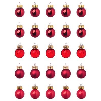 VINTER 2020 Boule décorative, verre rouge, 2 cm