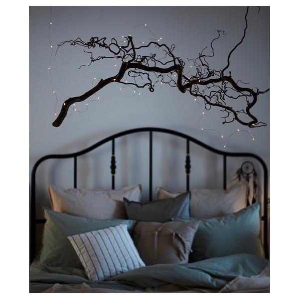 VISSVASS Guirlande lumineuse LED 40 ampoules, intérieur/à pile couleur argent