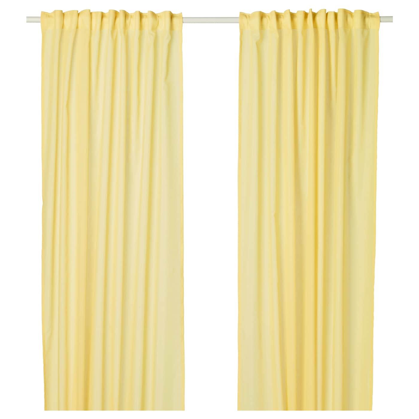vivan rideaux 1 paire jaune 145x300 cm ikea. Black Bedroom Furniture Sets. Home Design Ideas