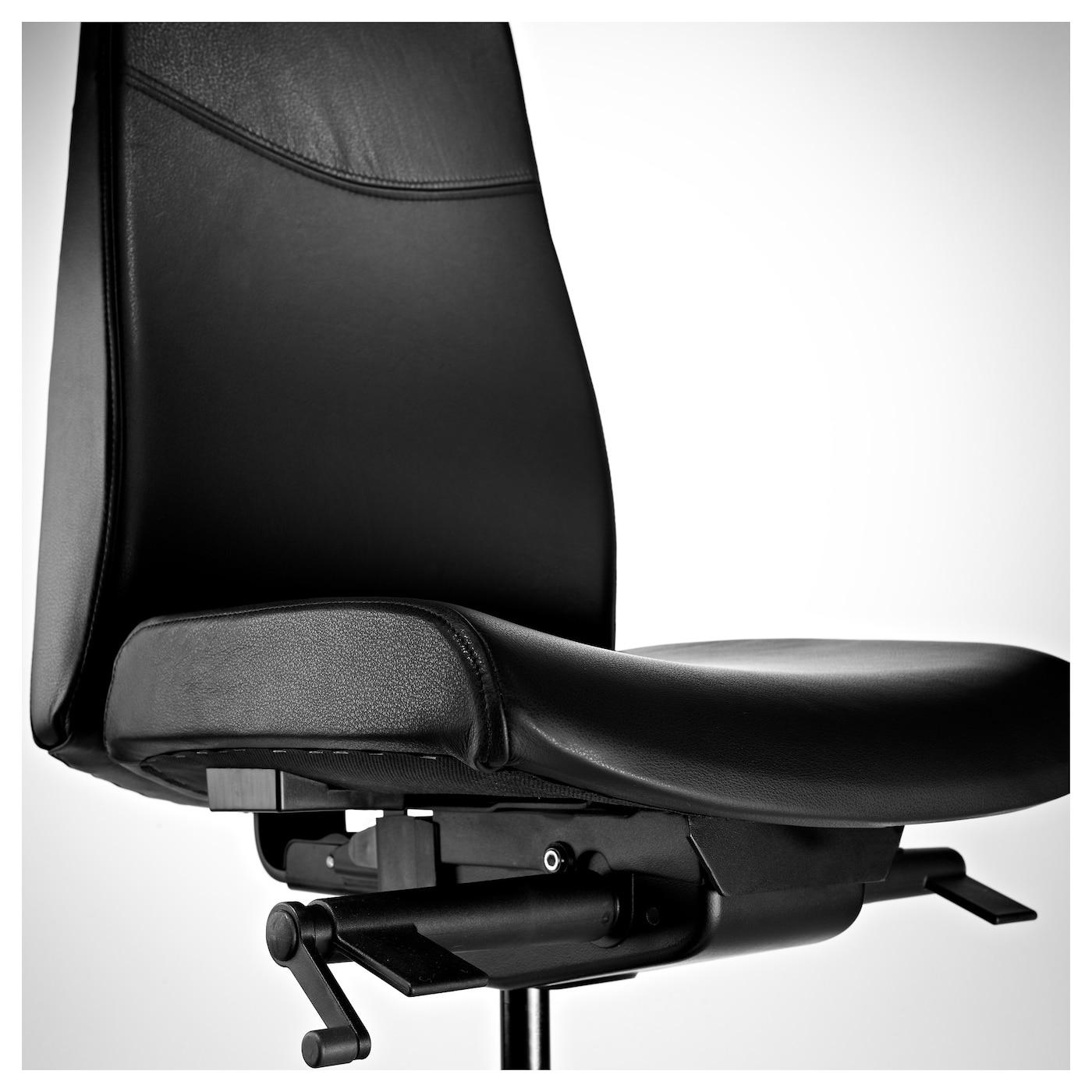 volmar chaise pivotante mjuk noir ikea. Black Bedroom Furniture Sets. Home Design Ideas