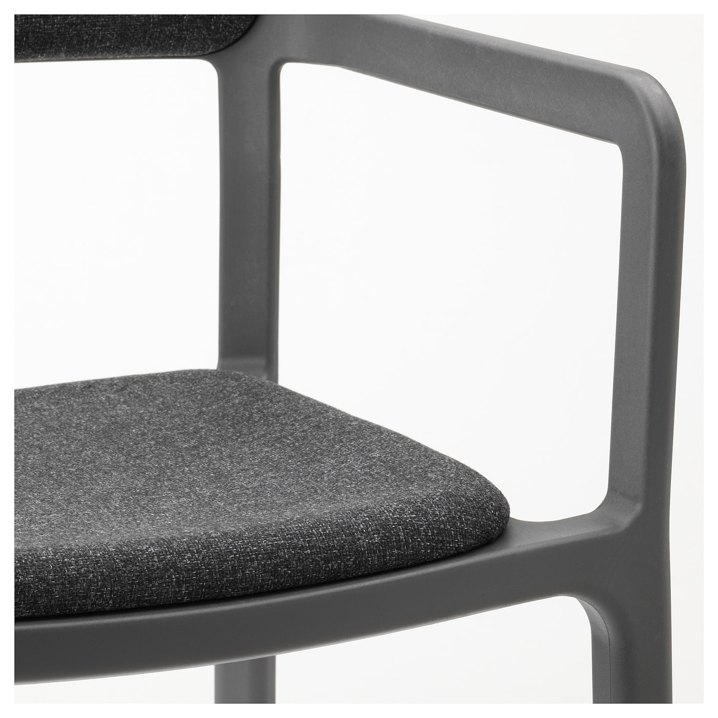 Ypperlig Chaise Accoudoirs Gunnared Gris Fonc Ikea