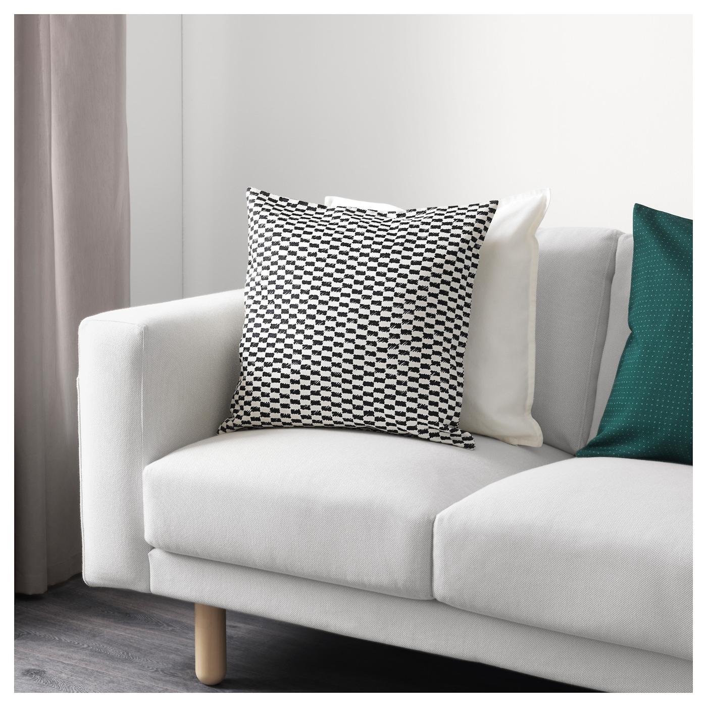 ypperlig housse de coussin noir blanc 50 x 50 cm ikea. Black Bedroom Furniture Sets. Home Design Ideas