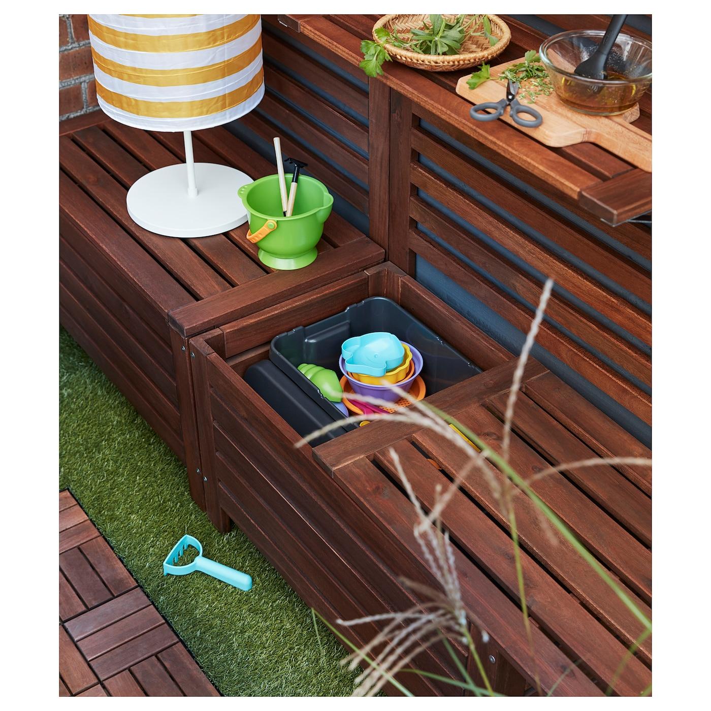 pplar bank met opbergruimte buiten bruin gelazuurd 80 x 41 cm ikea. Black Bedroom Furniture Sets. Home Design Ideas