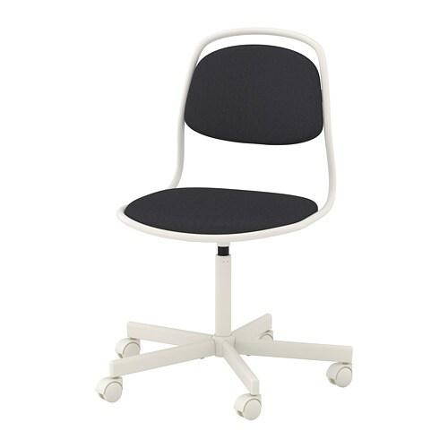 Bureaustoel Beste Getest.Orfjall Bureaustoel Wit Vissle Donkergrijs Ikea