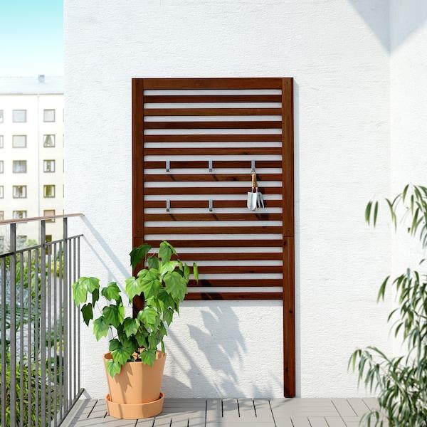 ÄPPLARÖ Wandpaneel, buiten, bruin gelazuurd, 80x158 cm