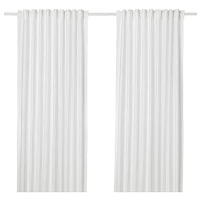 ANNALOUISA Gordijnen, 1 paar, wit, 145x300 cm