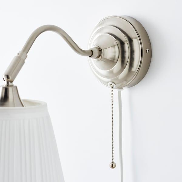 ÅRSTID Wandlamp, vernikkeld/wit