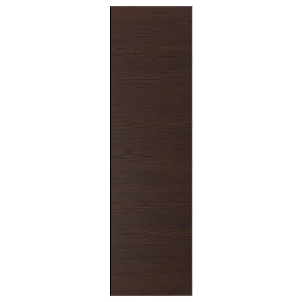 ASKERSUND Deur, donkerbruin essenpatroon, 40x140 cm