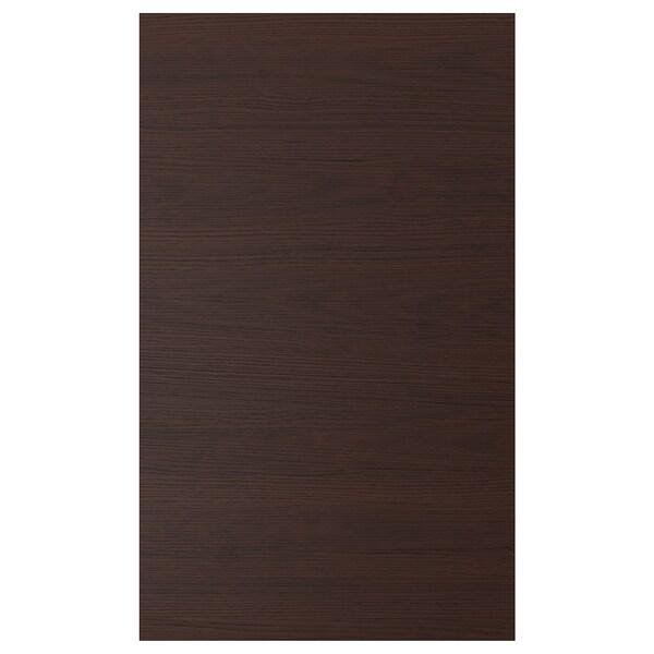 ASKERSUND Deur, donkerbruin essenpatroon, 60x100 cm