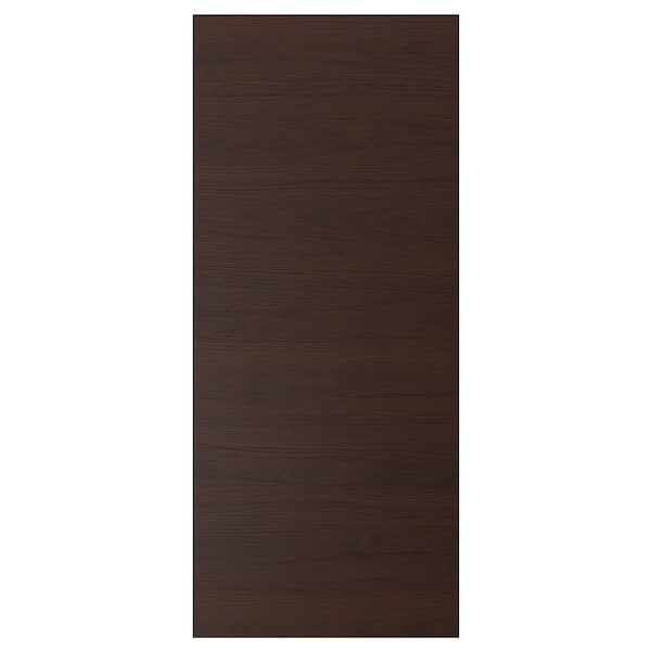 ASKERSUND Deur, donkerbruin essenpatroon, 60x140 cm