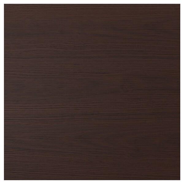 ASKERSUND Deur, donkerbruin essenpatroon, 60x60 cm