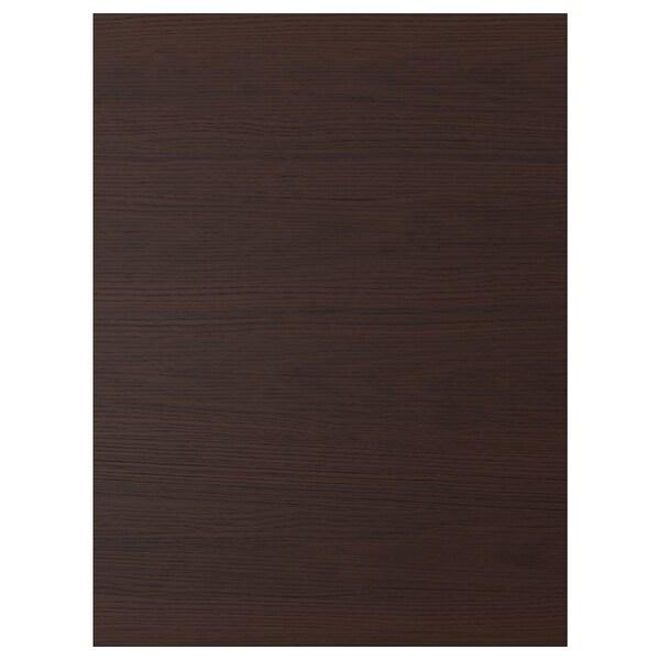 ASKERSUND Deur, donkerbruin essenpatroon, 60x80 cm