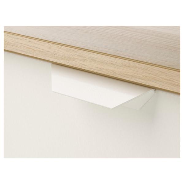 ASKVOLL Ladekast 2 lades, wit gelazuurd eikeneffect/wit, 41x48 cm