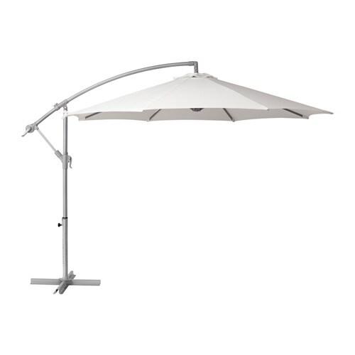 bagg n parasol vrijhangend wit 250 cm ikea. Black Bedroom Furniture Sets. Home Design Ideas