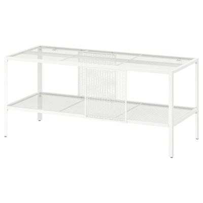 BAGGEBO Tv-meubel, metaal/wit, 90x35x40 cm