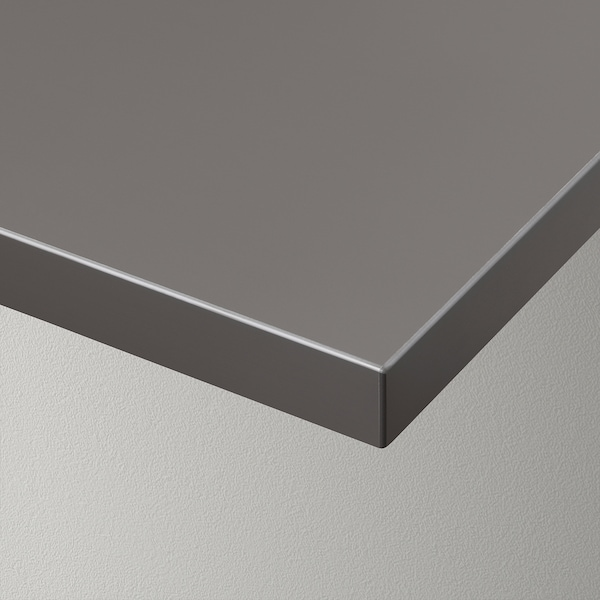 BERGSHULT Plank, donkergrijs, 120x20 cm