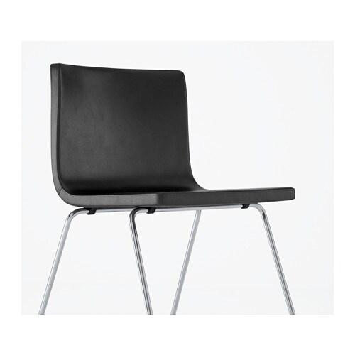 BERNHARD Eetkamerstoel Verchroomd/mjuk donkerbruin - IKEA