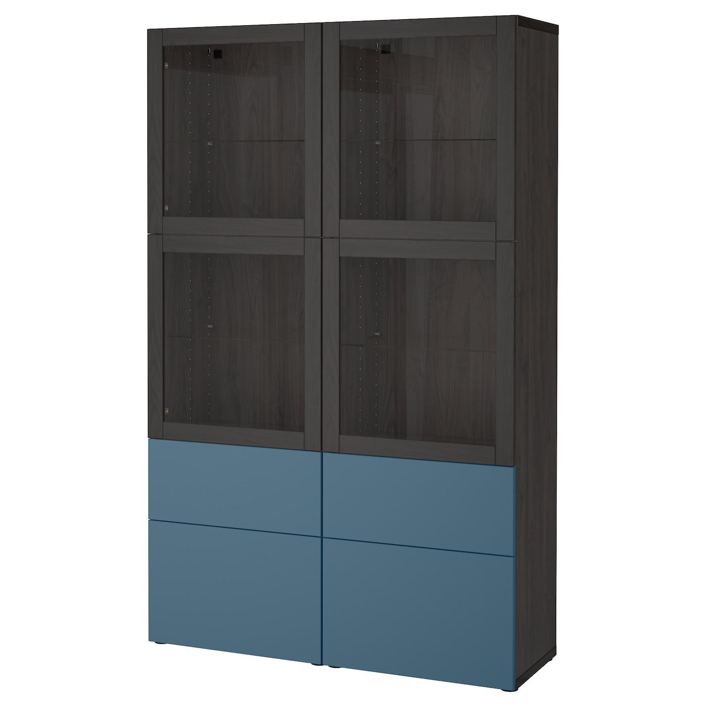 Best opbergcombinatie met glazen deuren zwartbruin for Top deuren