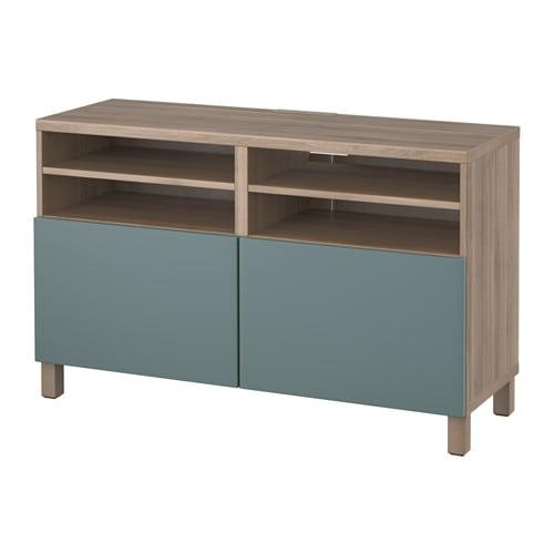 Best tv meubel met deuren grijs gelazuurd for Meuble tv large