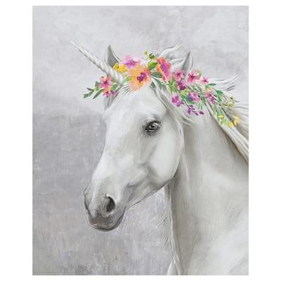 BILD Poster, Eenhoorn met bloemen, 40x50 cm