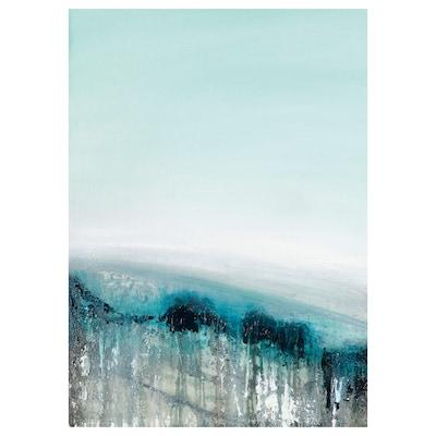 BILD Poster, Landschap in blauw, 50x70 cm