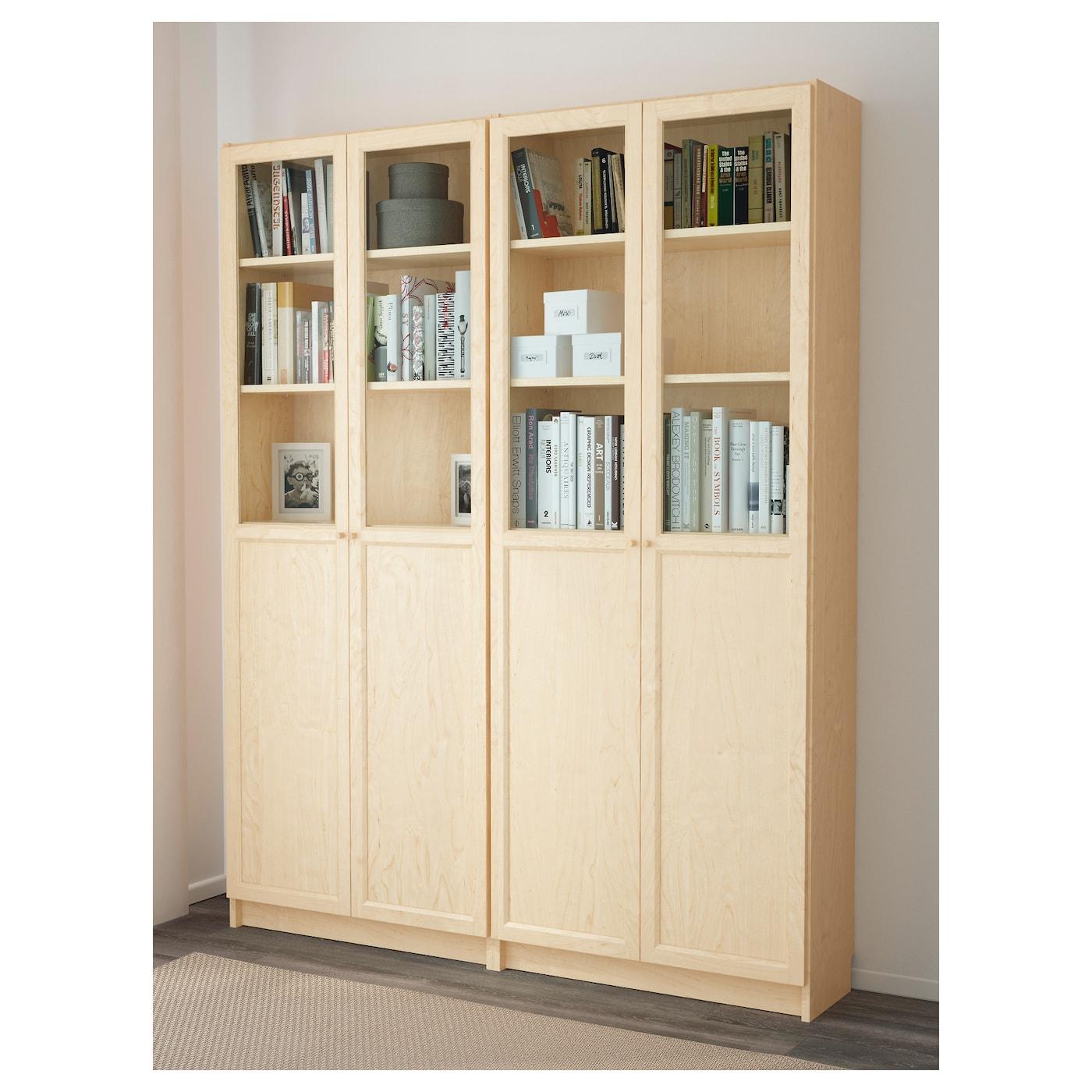 billy oxberg boekenkast berkenfineer 160x202x30 cm ikea. Black Bedroom Furniture Sets. Home Design Ideas