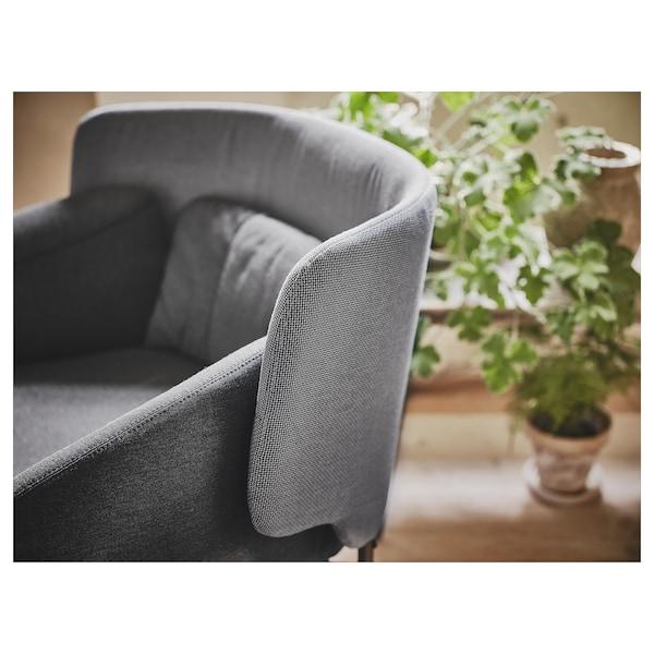 BINGSTA fauteuil Vissle donkergrijs/Kabusa donkergrijs 70 cm 58 cm 76 cm 33 cm 45 cm