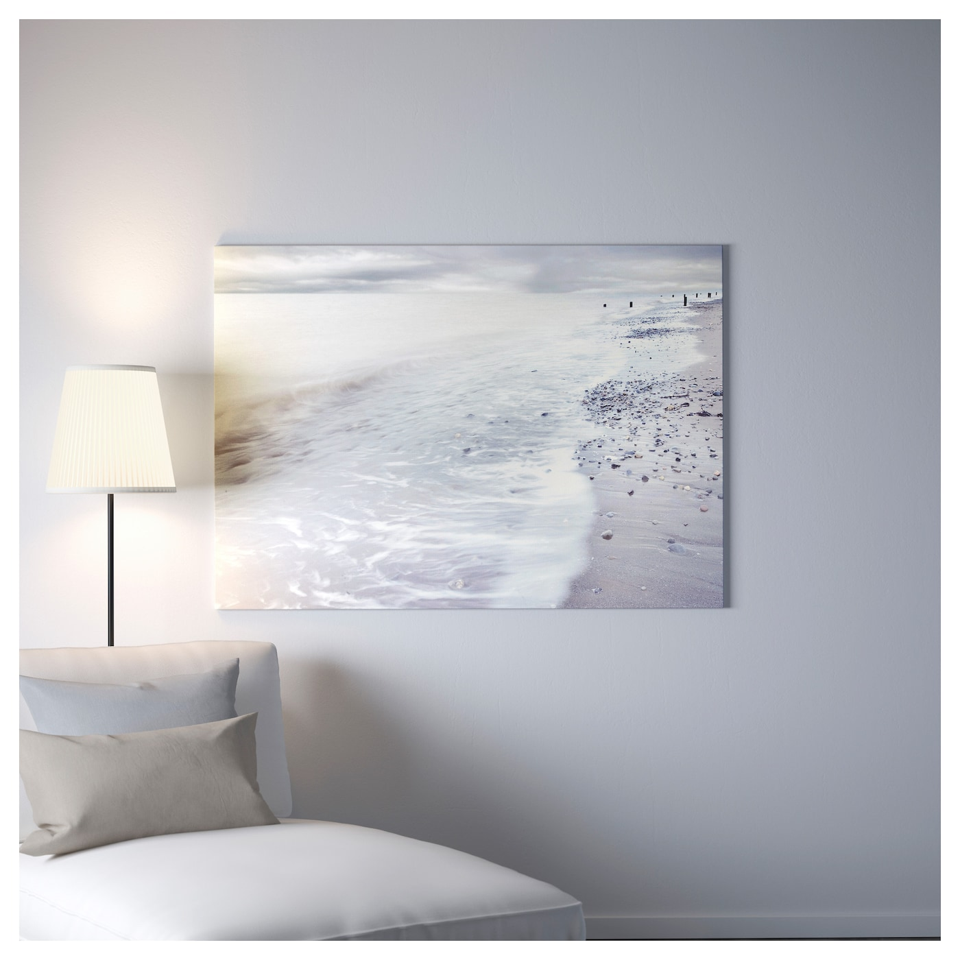 bj rksta foto met lijst wintergolven messingkleur 140x100. Black Bedroom Furniture Sets. Home Design Ideas