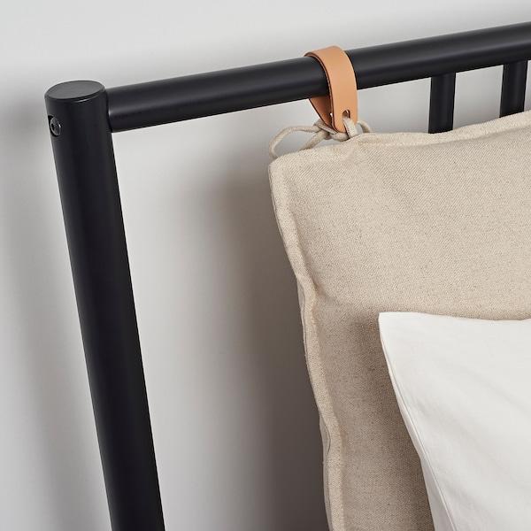 BJÖRKSNÄS Bedframe, zwart/Lönset, 180x200 cm